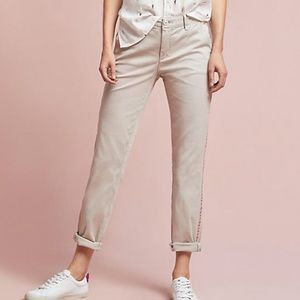 Anthropologie Beige Relaxed Fit Chino Size 27